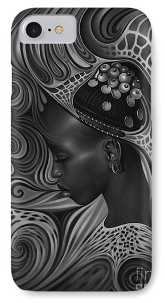 African Spirits II Phone Case by Ricardo Chavez-Mendez