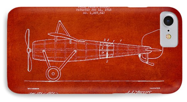 Airplane Patent Drawing From 1918 IPhone Case by Aged Pixel