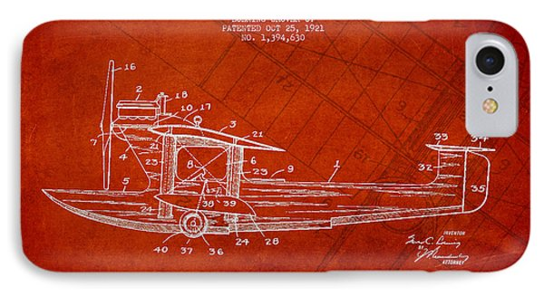 Airplane Patent Drawing From 1921 IPhone Case by Aged Pixel