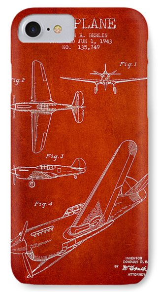 Airplane Patent Drawing From 1943 Phone Case by Aged Pixel