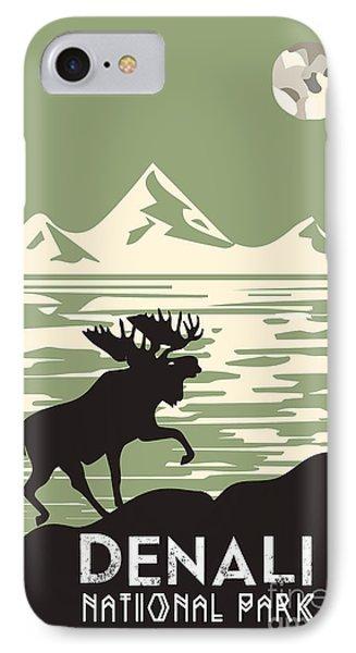 Alaska Denali National Park Poster IPhone Case by Celestial Images