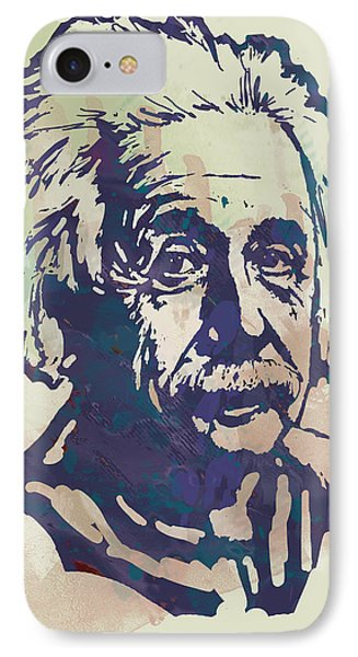 Albert Einstei - Pop Stylised Art Sketch Poster IPhone Case