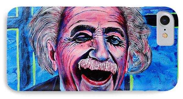 Albert Einstein Phone Case by Viktor Lazarev