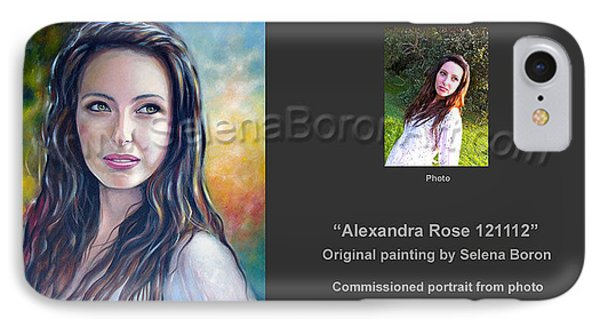 IPhone Case featuring the painting Alexandra Rose 121112 by Selena Boron