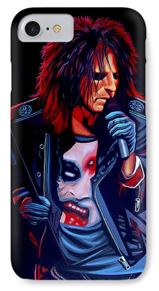 Alice Cooper  IPhone Case by Paul Meijering