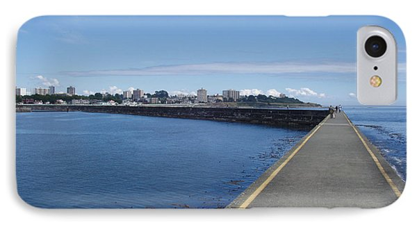 IPhone Case featuring the photograph Along The Breakwater by Marilyn Wilson
