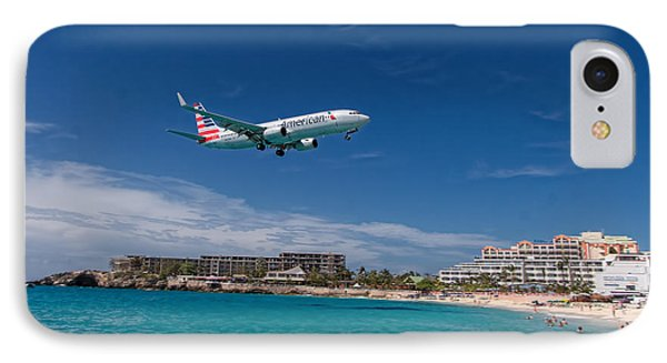 American Airlines At St Maarten IPhone Case by David Gleeson