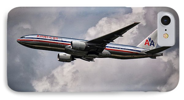 American Airlines Boeing 777 IPhone Case by Rene Triay Photography
