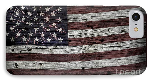 American Flag Fireworks IPhone Case