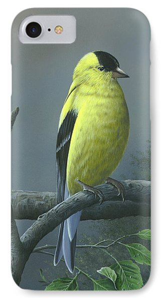 IPhone Case featuring the painting American Goldfinch by Mike Brown