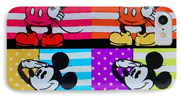 American Mickey IPhone Case by Rob Hans