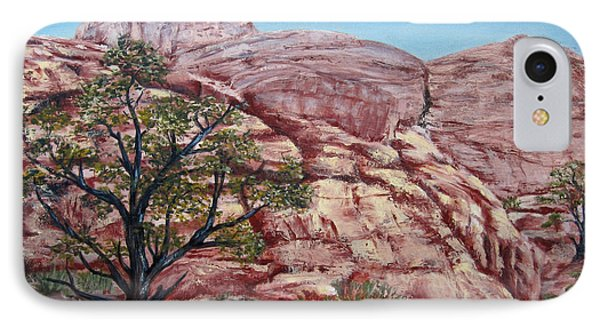Among The Red Rocks Phone Case by Roseann Gilmore