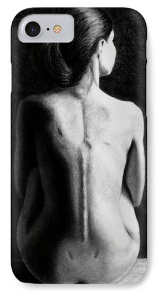 IPhone Case featuring the drawing Ana In Waiting  by Joseph Ogle