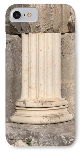 Anastylosis Of Temple Column At Letoon IPhone Case by David Parker