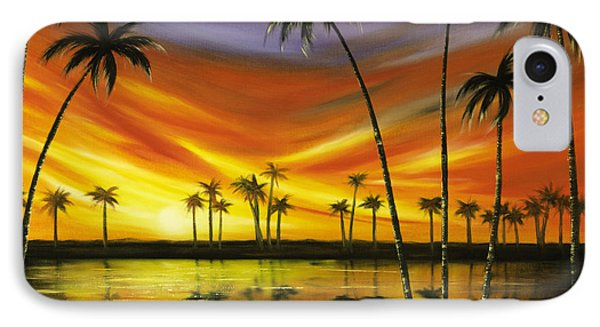 Another Sunset In Paradise Phone Case by Gina De Gorna