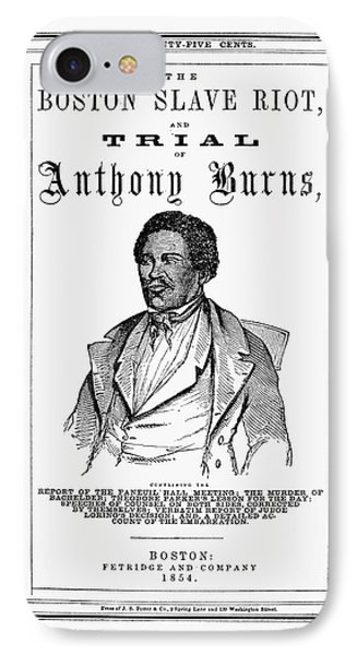 Anthony Burns (1834-1862) IPhone Case by Granger