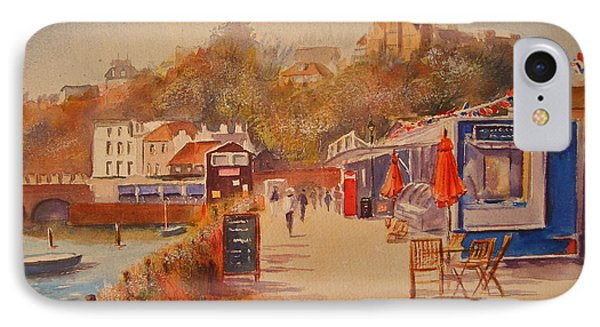 Around Folkestone Harbour IPhone Case by Beatrice Cloake