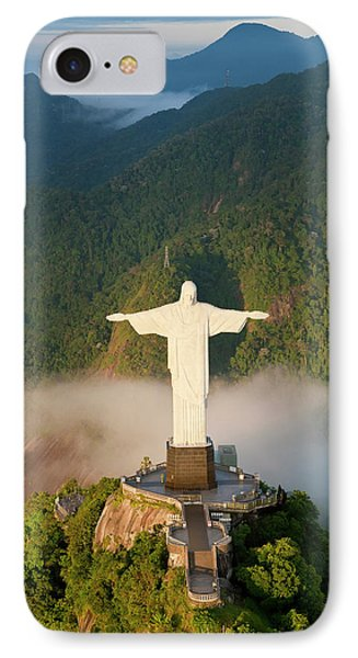 Art Deco Statue Of Jesus, Known IPhone Case by Peter Adams