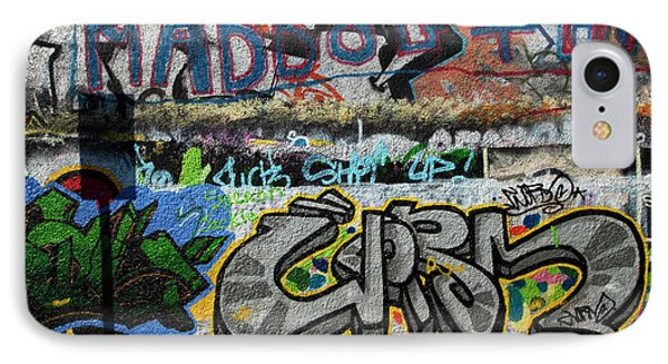 Artistic Graffiti On The U2 Wall IPhone 7 Case by Panoramic Images