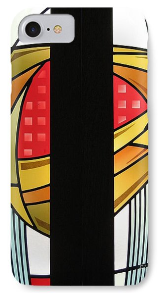 Arts And Crafts Abstract IPhone Case by Gilroy Stained Glass