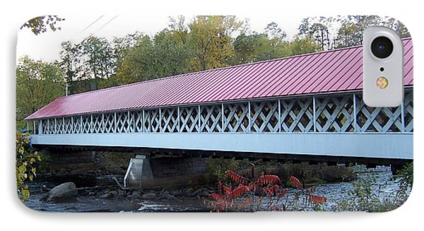 Ashuelot Covered Bridge IPhone Case by Catherine Gagne