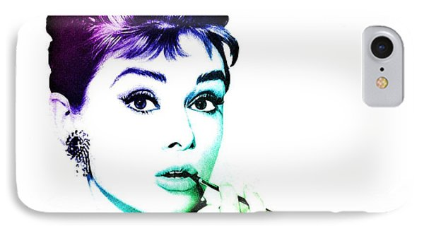 Audrey Hepburn IPhone 7 Case by Marianna Mills