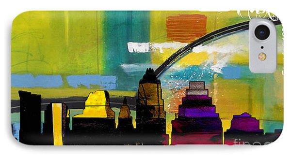 Austin Texas Skyline Watercolor IPhone Case by Marvin Blaine