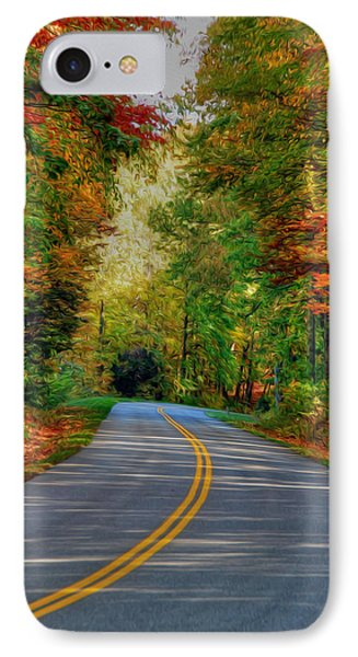 IPhone Case featuring the digital art Autumn Drive by Kelvin Booker