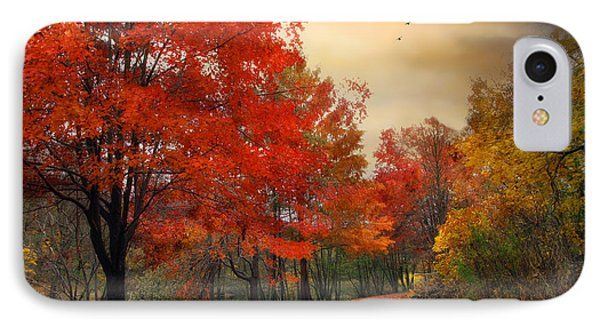 IPhone Case featuring the photograph Autumn Maples by Jessica Jenney