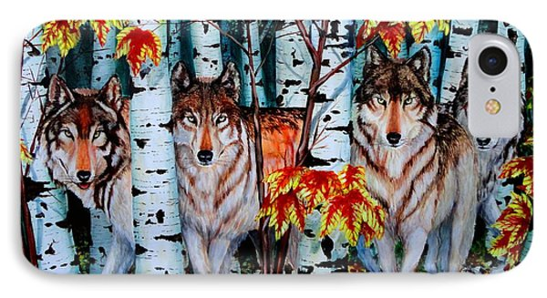Autumn Wolves IPhone Case by Ruanna Sion Shadd a'Dann'l Yoder