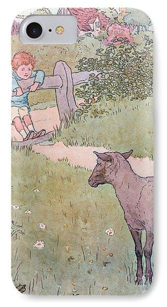 Baa Baa Black Sheep IPhone Case by Leonard Leslie Brooke