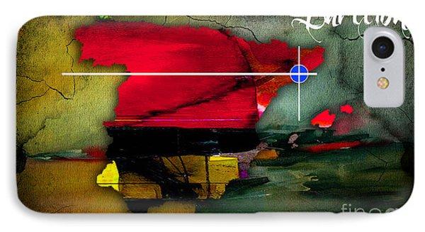 Barcelona Spain Map Watercolor IPhone Case