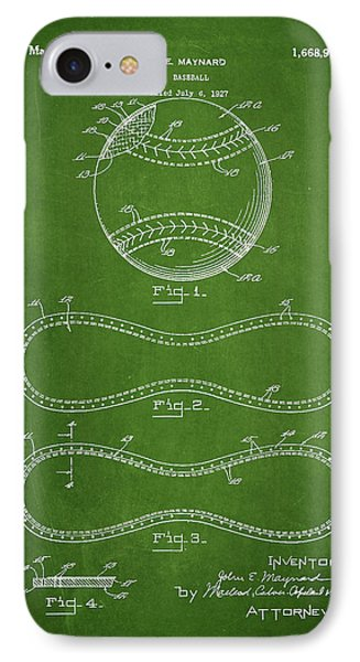 Baseball Patent Drawing From 1927 IPhone Case