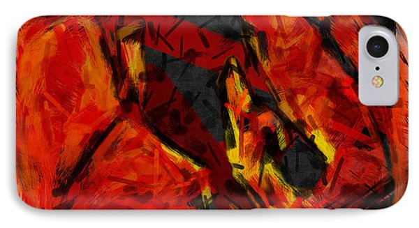 Basketball Abstract IPhone Case by David G Paul