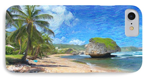 Bathsheba Beach In Barbados IPhone Case by Verena Matthew