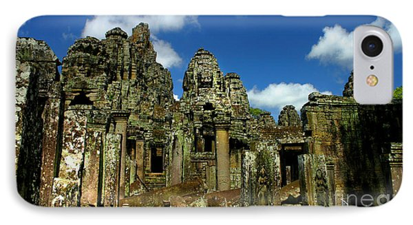 Bayon Temple IPhone Case by Joey Agbayani