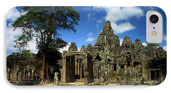 Bayon Temple View From The East IPhone Case by Joey Agbayani
