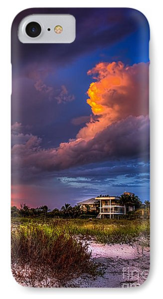 Beach Front Rain IPhone Case by Marvin Spates