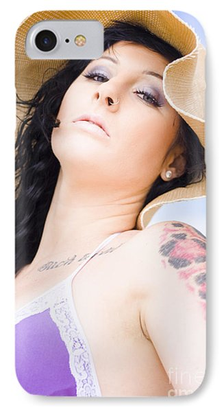 Beach Woman IPhone Case by Jorgo Photography - Wall Art Gallery
