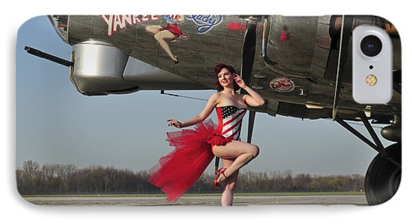 Beautiful 1940s Style Pin-up Girl Phone Case by Christian Kieffer