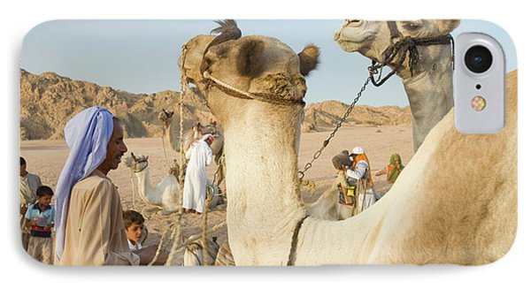 Bedouins And Their Camels IPhone Case by Ashley Cooper