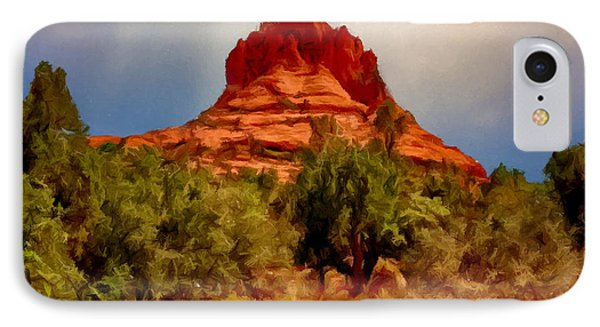 Bell Rock Vortex Painting Phone Case by Bob and Nadine Johnston
