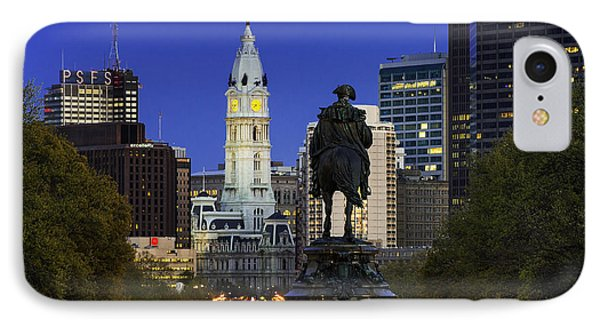 Ben Franklin Parkway And City Hall Phone Case by John Greim