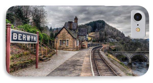 Berwyn Railway Station IPhone Case by Adrian Evans