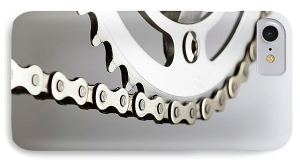 Bicycle Chain And Crank IPhone Case by Science Photo Library