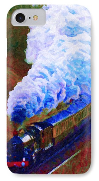 IPhone Case featuring the digital art Billowing by Chuck Mountain