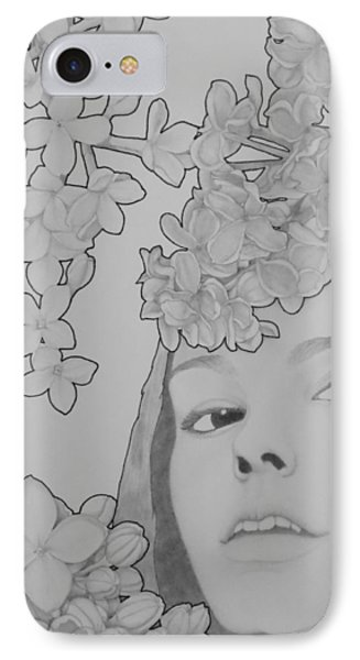 Blooming Girl Lilac  Phone Case by Aaron El-Amin