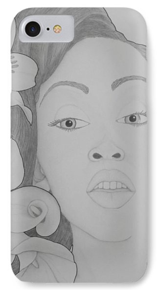 Blooming Girl Lily 2  Phone Case by Aaron El-Amin