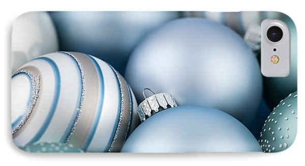 Blue Christmas Ornaments IPhone Case