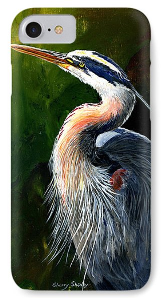 Blue Heron  Phone Case by Sherry Shipley